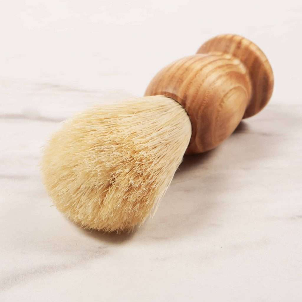 Plastic Free Shaving Brush On Marble